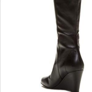 Vía Spiga Felipa Leather Wedge Boot